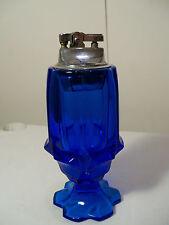 Large Fenton Blue Valencia Cigarette Lighter Item 571