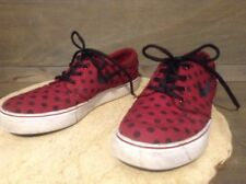 Nike Stefan Janoski WOMENS YOUTH Canvas Sneakers Lace Up Size 6.5Y BURGANDY POLK