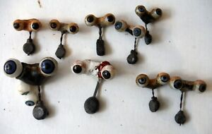 Lot of 10 pair Antique Glass Doll Eyes Pairs with Sleep-Eye Mechanisms P8