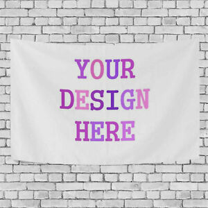 Custom Photo Graphic Printed Tapestry Wall Hangings Decor Fit All Type Photos