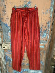 Gringo FAIR TRADE striped NEPALESE COTTON baggy HIPPY yoga TROUSERS