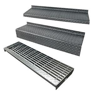 Metal Stair Tread Bar Grating Durbar Industrial Galvanised Self Colour Steel