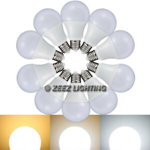 5W 7W 9W 12W LED Light Bulbs A19 E26 Soft Warm Cool Bright White Daylight Lamp