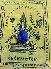 Ganesh Amulet Buddha Prayer Thai Yoga Pendant Meditation Hindu Lucky Stone Blue