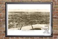 Vintage Omaha, NE Map 1906 - Historic Nebraska Art - Old Victorian Industrial