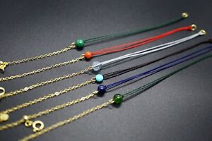 Rope Combine With Adjustable-length Yellow Gold Plated Silver Chain Bracelet