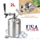 2L/64oz Home Brew Beer Growler Tap Kits Stainless Steel Beer Mini Keg Portable