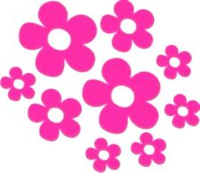 12 Flower Stickers Car/Van/Home *Choice of colours*
