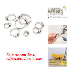 80Pcs/set Adjustable Hose Clamp Connector Cable Fuel Pipe Clamps Durable