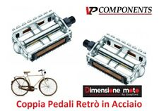 0700 - Coppia Pedali VP-Components Retrò in Acciaio per Bici 20-24-26 Pieghevole