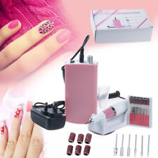 Portable Manicure 30000RPM Machine Rechargeable Cordless Nail Art Drill File Kit