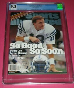 PEYTON MANNING Sports Illustrated CGC 9.2 ROOKIE COVER 11/22/99 Colts