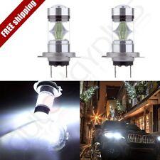 2x Xenon H7 Cree LED 60W 6000LM Bulbs hi/Low Beam HID Lamp Lights Vehicle6000K