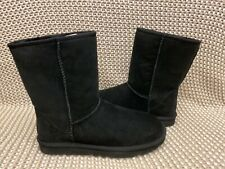 UGG CLASSIC SHORT II BLACK WOMENS SIZE 9 WATER RESISTANT