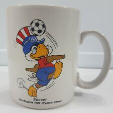 Vintage Los Angeles 1984 Olympic Games Soccer Mug Coffee Tea Cup Used Condition