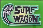 """SURF WAGON"" Vinyl Sticker Decal WOODY SURFBOARD VW FORD Surfing Rat Fink Surf L"