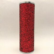 Bath & Body Works Red Glitter Metal Fine Fragrance Mist Sleeve Holder New