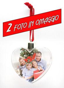 Palla Pallina a Cuore di Natale personalizzabile foto regalo  Christmas
