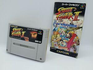 Nintendo Super Famicom Street Fighter II 2 sfc cartridge and manual Capcom