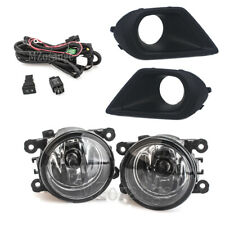 Fog Light +Lamp Cover+Wiring Switch Kit For Subaru Forester 2014-2016 Clear Lens