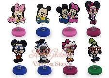 "Disney Mickey, Minnie Mouse Birthday Cake Topper (Set Of 8pc) 1/4"" X 1-1/2"""