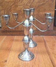 "Pair of Vintage Towle Sterling Silver Candle Stick Holders - 10"" Tall"