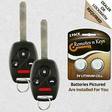 2 For Honda Pilot 2009 2010 2011 2012 2013 2014 2015 Keyless Remote Car Key Fob