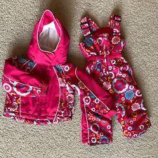 Weatherproof Girls' Toddler 2 Piece Snow Suit Fuschia Floral 2T Jacket Pants