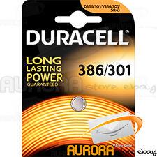 1 PILA BATTERIA DURACELL D 386/301 OROLOGIO V386/301 SR43 WATCH BOTTONE TONDA---
