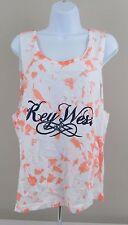 Key West Women's Tank Coral Basix of America Brand Size Large NWT