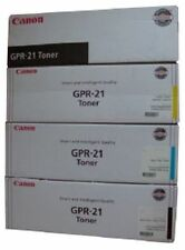 4 x Canon Genuine FULL SET GPR-21 Black/Cyan/Magenta/Yellow Toner Cartridge Ink
