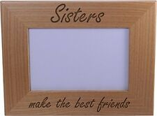 Sisters Make Best Friends Wood Picture Frame - Great Gift for Birthday, or Ch...