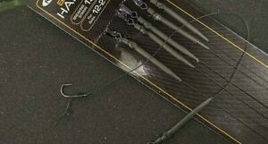 New  NGT Barbless Hair Rigs - 6 Pack - Size 6,8,10 - Carp/Barbel/Chub - 15lb