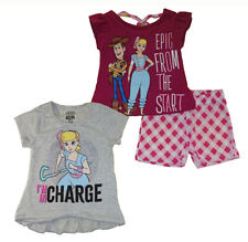 Toy Story 4 Toddler Girls I'm In Chage 3pc Short Set Size 2T 3T 4T