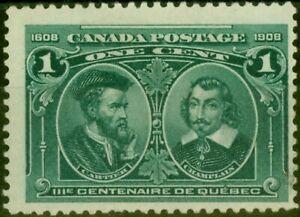 Canada 1908 1c Blue Green SG189 Fine Mtd Mint