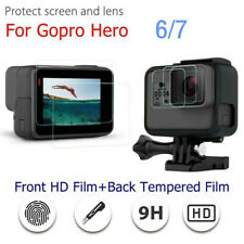 For GoPro HERO 7 6 Lens Protective Cover Shell 9H Screen Film Glass Accessories