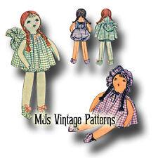 "Rare! Vintage 1930 Gingham Cloth Doll Pattern ~ 18"" tall"