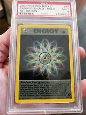 Pokemon PSA 9  Rainbow Energy Holo 1st Edition  17/82  MINT PSA