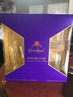 CROWN ROYAL SIGNATURE ROCKS GLASSES SET OF TWO BRAND NEW NO BOOZE INCLUDED!
