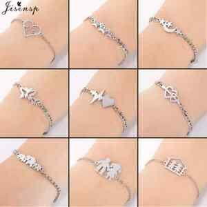 Super cute, stainless steel chain link bracelet with charm