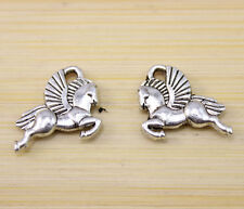 25/50/100 pcs Very beautiful pegasus Tibet silver Charm pendant 15x14 mm