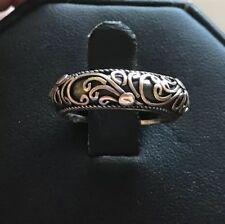 Designer BA Suarti Sterling Silver 925 Contrast Scroll Bridal Cocktail Band Ring