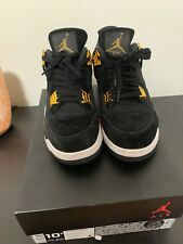 Used Nike Air Jordan 4 Retro Royalty IV Black/ Metallic Gold Size 10.5 OG Bred