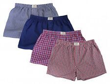 Fabio Farini Men's Woven Boxer Shorts Pack of 4 100 Cotton XL Set 6