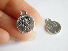 10 tree of life charms pendant antique silver jewellery making wholesale UK PL26