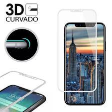 """Protector Cristal Templado Completo 3D BLANCO Curvado para iPhone X 5,8"""" PREMIUM"""