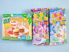 3 PCS SET Kracie Popin Cookin Japanese Candy Making Kit Hamburger Nerunerunerune