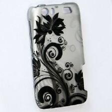 For AT&T Motorola Atrix HD Rubberized HARD Case Snap On Phone Cover Black Vines