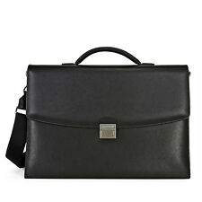 Montblanc Sartorial Double Gusset Briefcase - Black