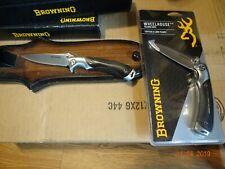 """4.5"""" BROWNING FRAMELOCK FOLDING POCKET KNIFE G10 HANDLE BLACK 7Cr17MoV S.S BLADE"""